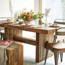 Industrial Oak Steel Dining Table Steel Dining Table - West elm emmerson industrial expandable dining table