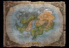 World Map Artwork by Sanctuary World Map Video Games Artwork