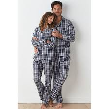 mens womens plaid pajama set the company store