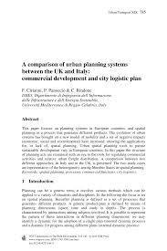 a comparison of urban planning systems between the uk and italy