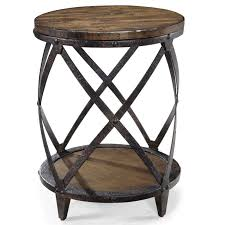 Iron Accent Table Accent End Table With Rustic Iron Legs By Magnussen Home