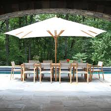 8 Ft Patio Umbrella Teak Patio Umbrellas 13 5 X 8 Ft Rectangle Umbrella With Canopy