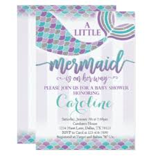 mermaid baby shower invitations purple baby sprinkle invitations announcements on nautical baby