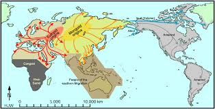 map of america 20000 years ago human migrations the last 100 000 years abagond