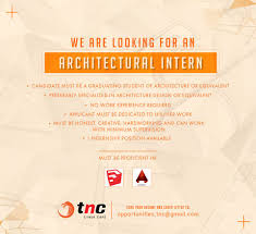 tnc e sports we are looking for an architectural intern