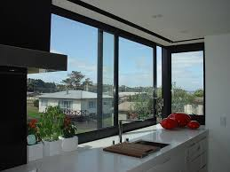 modern kitchen window modern kitchen with sliding windows and white countertops