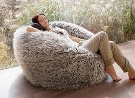 australias largest faux fur fluffy shaggy bean bag chairs brown