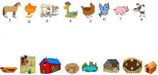 animal matching worksheets funnycrafts