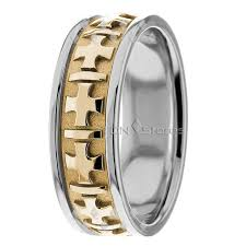 christian wedding bands two tone christian wedding ring 6 5mm wide wedding bands tdn stores