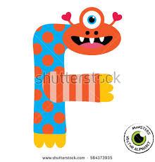 happy monsters vector alphabet letters classroom stock vector
