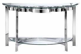 Curved Sofa Tables Stein World Furniture Mercury Demilune Sofa Table