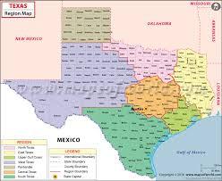tecas map regions map maps