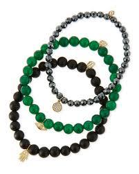 bracelet sets sydney evan beaded bracelet sets with charms