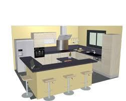 plan de cuisine avec ilot plan cuisine avec ilot central