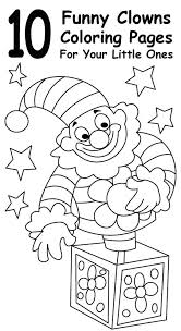 circus clown coloring pages eliolera com