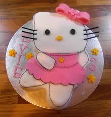 kitty ballerina cake daughters 3rd