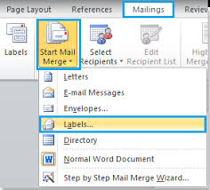 office 2013 mail merge how to create mailing labels by using mail merge in word