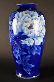Hand Painted Chinese Vase Fukagawa Japanese Porcelain Imperial Fine China Blue And White