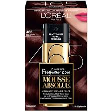 superior preference mousse absolue dark auburn brown 465 hair