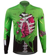zombie long sleeve cycling jersey perfect for halloween cycling