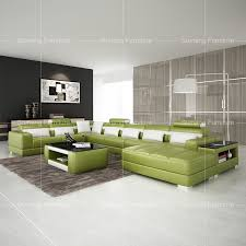 Green Leather Sectional Sofa Sumeng 2016 High Quality Half Moon Shape Green Leather Sectional