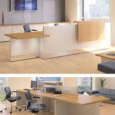 Reception Counter Desk Fulcrum Professional Reception Counter With Panel Shelf Dbi