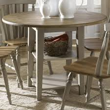 round drop leaf dining leg table by liberty furniture wolf and