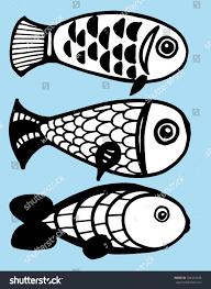 stylized fishes aquarium fish ornamental fish stock vector