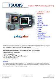 productlisting lcd tft replacement monitors tsubis pdf