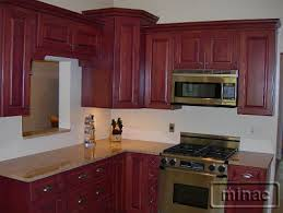 hardware for cherry cabinets finished kitchens minac s kitchen