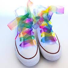 ribbon shoelaces ribbon shoe laces etsy