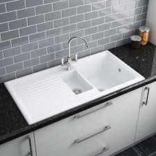 How To Clean White Porcelain Kitchen Sink Black Corian Kitchen Sinksj Countertop How Do You Clean