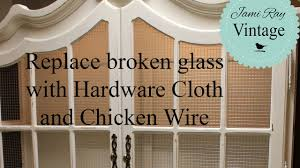 how to build glass cabinet doors how to replace glass with hardware cloth and chicken wire youtube
