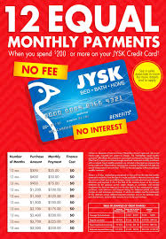 jysk credit card