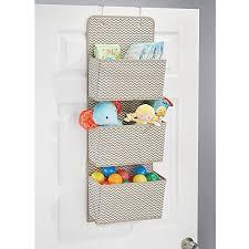 Over Door Closet Organizer - mdesign mdesign wall mount over door fabric baby nursery closet