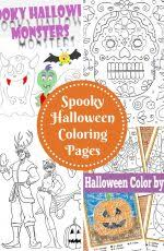 halloween monsters coloring trail colors
