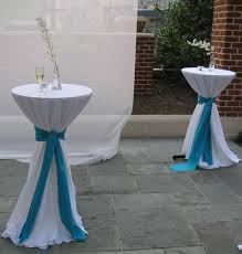 cocktail table centerpieces outdoor cocktail table with white fabric cover and flower