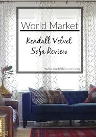 world market kendall velvet sofa review our fifth house