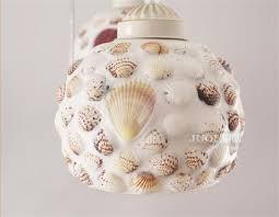 shell ceiling light one light shell material small type semi flush ceiling light