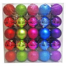 50ct 70mm bright ornament set wondershop target