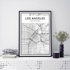 Los Angeles Map Poster by Compare Prices On Los Angeles City Online Shopping Buy Low Price