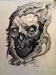 skull grim reaper drawing by christian pena chrispytatu tattoo