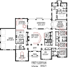 one story open floor house plans 2500 square one story house plans home deco plans