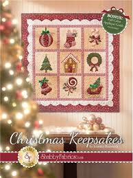 christmas keepsakes book by jennifer bosworth of shabby fabrics