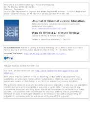 how to write journal literature review u0026 100 original