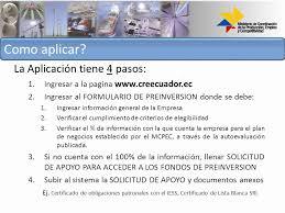 lista blanca sri ecuador programas del mcpec puesta en marcha
