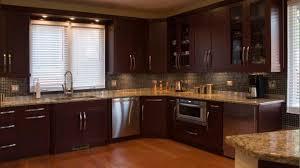 Primitive Kitchen Island Lighting Dark Cherry Wood Kitchen Cabinets Brown Varnished Wood Kitchen