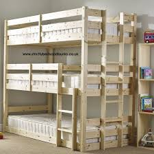 Build Your Own Wooden Bunk Beds by Pandora 3 Tier Triple Sleeper Pine Bunk Bed New House