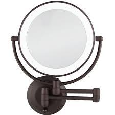 chic inspiration bathroom magnifying mirrors round mirror light