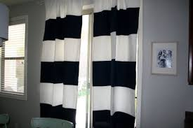 contemporary bedroom decoration with cool navy striped